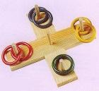 Tiranillas en cruz de madera