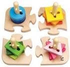 Apilables de formas y base de puzzle (creative peg puzzle)