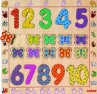 Puzzle de madera 1-10 (Djeco)