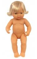 Baby europeo niña con pelo (38 cms)