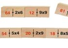 Dominó madera Multiplicación