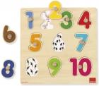 Puzzle de madera números (Goula)