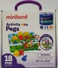 Activity pegs . 18 piezas