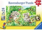 Dulces koalas y pandas. 2 puzzles de 24 piezas cada uno