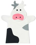 Títere de mano Vaca