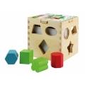 Cubo de madera con formas para encajar