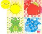 Puzzle encajable de 4 colores