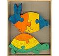 Puzzle - encajable de conejo y tortuga