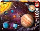 Educa Puzzle 1000 piezas. Sistema Solar Neon Fosforescente