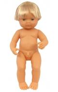 Baby europeo niño con pelo (38 cms)