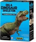 Excavación esqueleto de Tyrannosaurus Rex.