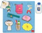 Puzzle de madera baño