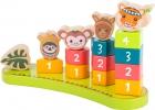Juego de encaje con números jungla (Shape-Fitting Game with Numbers Jungle)