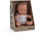 Baby caucásica niña con ropa (21cm)