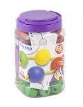 Bote de bolas para ensartar 35mm (60 piezas + 10 cordones)