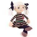 Muñeca de trapo Alice coletas pelo blanco (35cm)