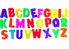 Estuche de letras magnéticas mayúsculas (76 piezas)