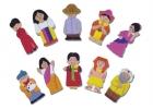 Títeres de dedo personajes del mundo 1