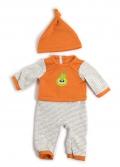 Pijama invierno naranja (40 cm)