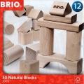 Bloques construcción de madera natural (50 piezas) Brio