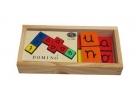 Domino tradicional de vocales (madera)