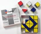 Cubos de Kohs. 16 Cubos de plástico blancos, rojos, azules y amarillos