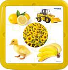 Plastic puzzle color amarillo