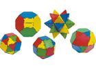 Conexion bote 54 piezas geométricas. Sólidos platónicos