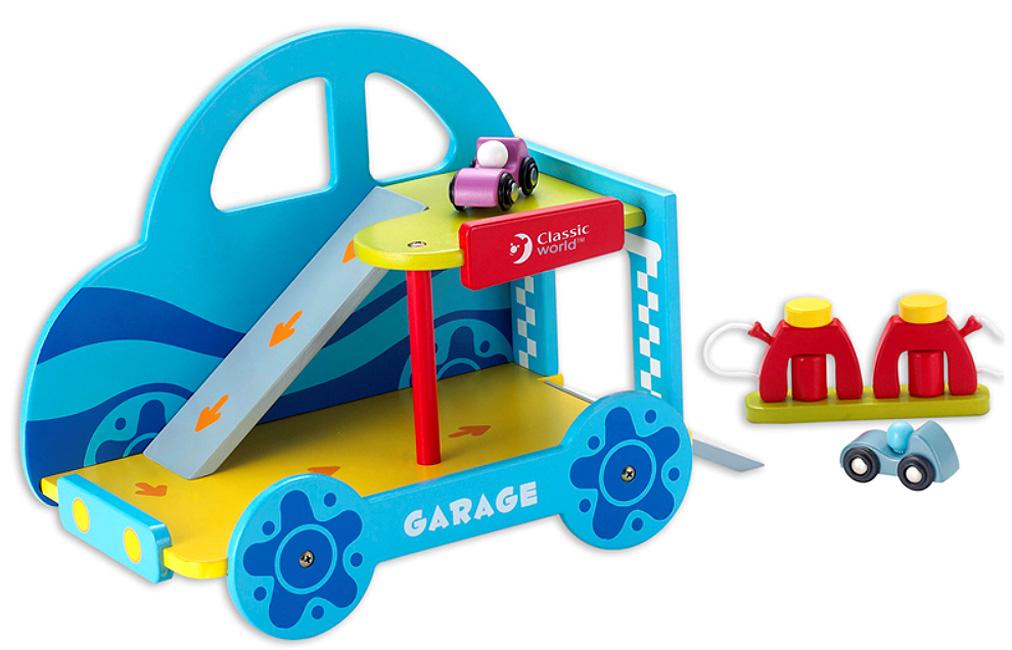 Garaje de coches de madera cayro la cocina de mam for Garaje de coches