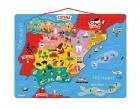 Mapa de España de madera y magnético (50 piezas)