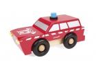 Camión de bomberos magnético de madera