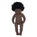 Baby Síndrome Down africano niña con pelo (38 cm)