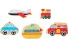 Puzles madera caja de vehículos